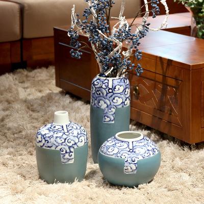 供应 桌面青花瓷花瓶