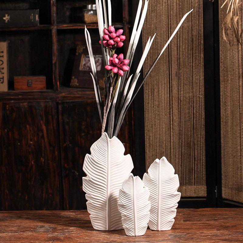 美式系列高档陶瓷花瓶新款亚光大号花瓶桌面摆件创意家居如图