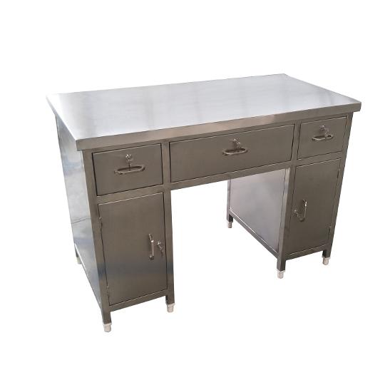 不锈钢写字台抽屉桌