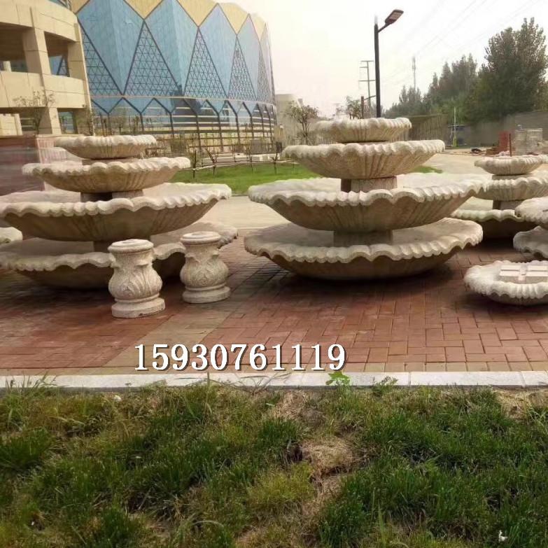 石雕晚霞喷泉石材雕刻别墅庭院水景装饰品户外广场流水招财摆件