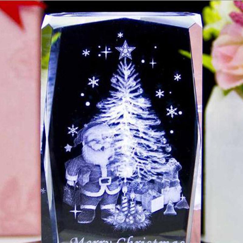 水晶圣诞树 内雕圣诞树 圣诞节礼物 平安夜 水晶圣诞树 送礼 摆饰