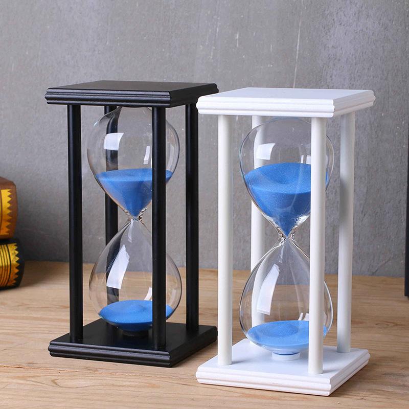 水晶沙漏 创意家居工艺礼品摆件木质时间沙漏计时器