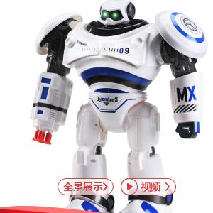 智能机器人电动跳舞机械人早教多功能阿尔法伯特可编程玩具 升级蓝