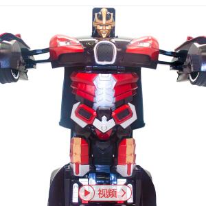 TT663 布加迪威龙汽车机器人(红色) 遥控智能一键变形金刚 超变漂移战神玩具