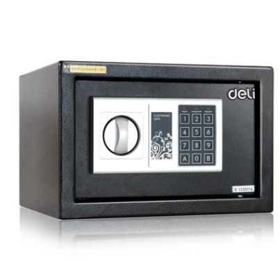 供应 得力保险箱 33057保管箱 家用办公小型迷你密码入墙