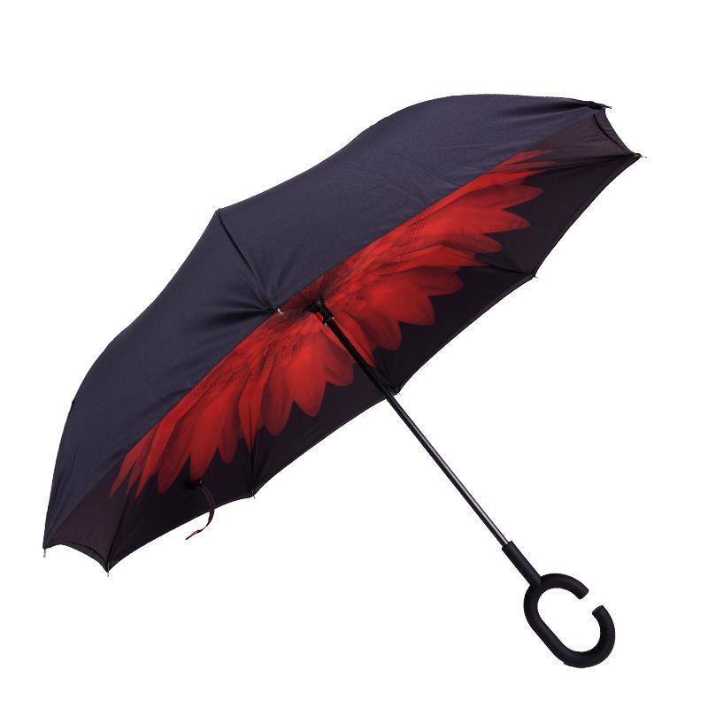 新款反向伞夏季防晒晴雨伞批发 遮阳伞可定制可加LOGO雨伞厂家
