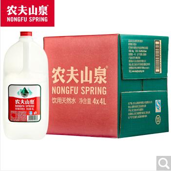 供应 农夫山泉 饮用天然水4L 4桶 整箱