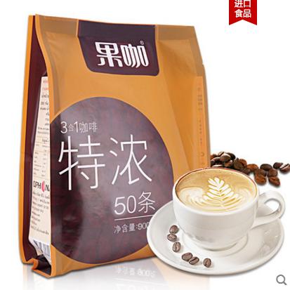 供应 新鲜 泰国进口咖啡提神 速溶咖啡粉 三合一咖啡50条18g