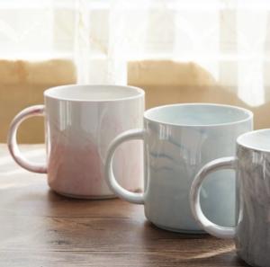 供应 杯子北欧陶瓷燕麦片早餐杯ins牛奶咖啡杯带盖勺