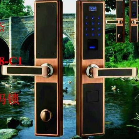 1707-C1 指紋密碼感應鎖(安卓手機APP遠程滾動碼開門) 指紋鎖廠家