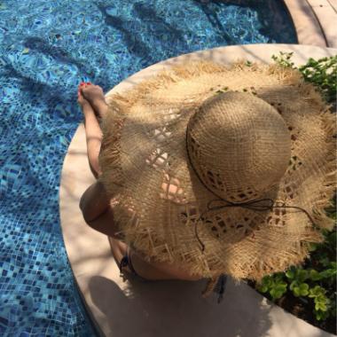 供應 女士草編拉菲草帽遮陽沙灘帽 歐美太陽帽 防紫外線遮陽帽