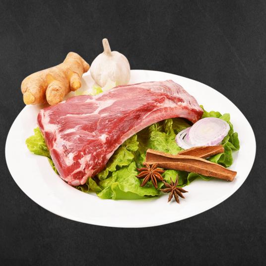 供应 欧得莱黑山猪肋排500g 散养黑猪土猪肉