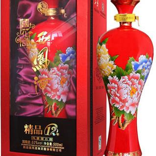 陕西西凤酒国花瓷12年