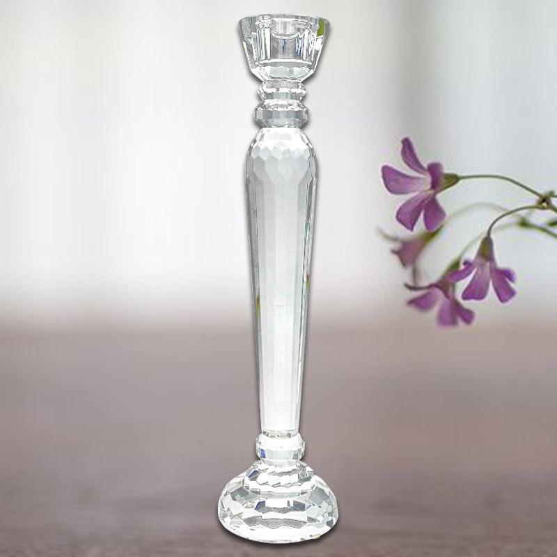 水晶烛台 K9水晶 烛台摆件 装饰品摆设 简约