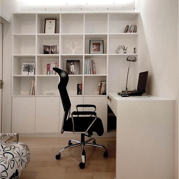爱兴亚 白色成套全铝书柜家具 学生书桌 儿童收纳柜 定制