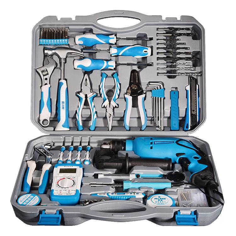 供应 冲击电钻家用电动组合工具箱套装