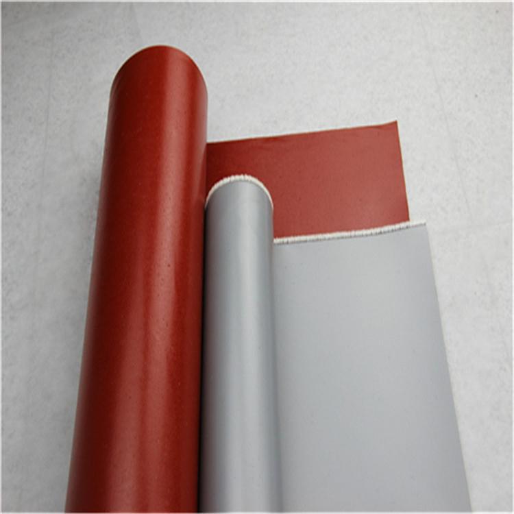 厂家直销 防火布耐磨耐高温耐化学腐蚀 玻璃纤维硅胶布 柔软易裁剪