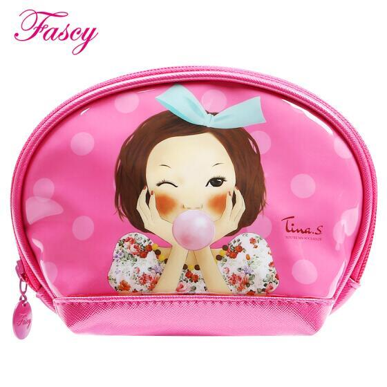发熙 (发希 Fascy)化妆包袋 便携时尚潮流半月小包 泡泡Tina 粉色款
