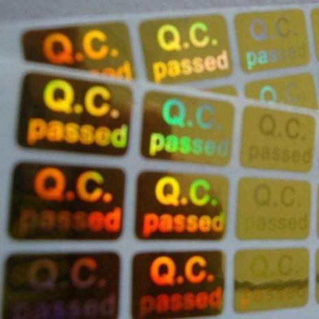 激光防伪标签定做 金色镭射商标