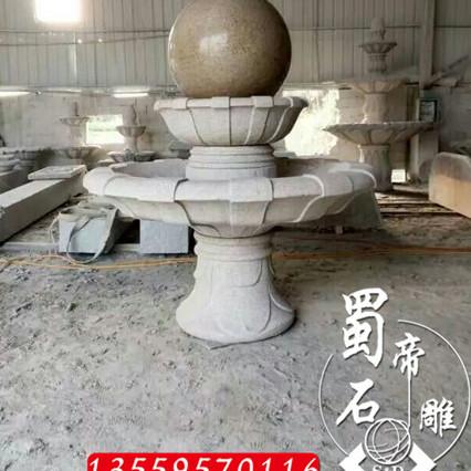 石雕风水球 大理石喷水球 石材转运球 惠安厂家