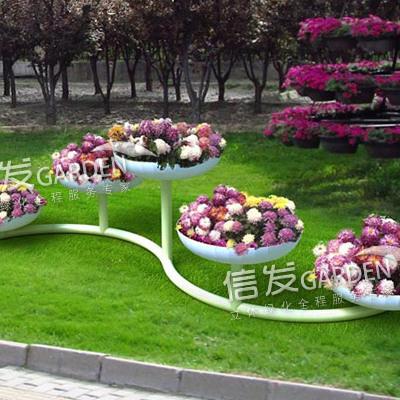 供应公园绿化立体铁艺花架 多种造型 落地花架 s型