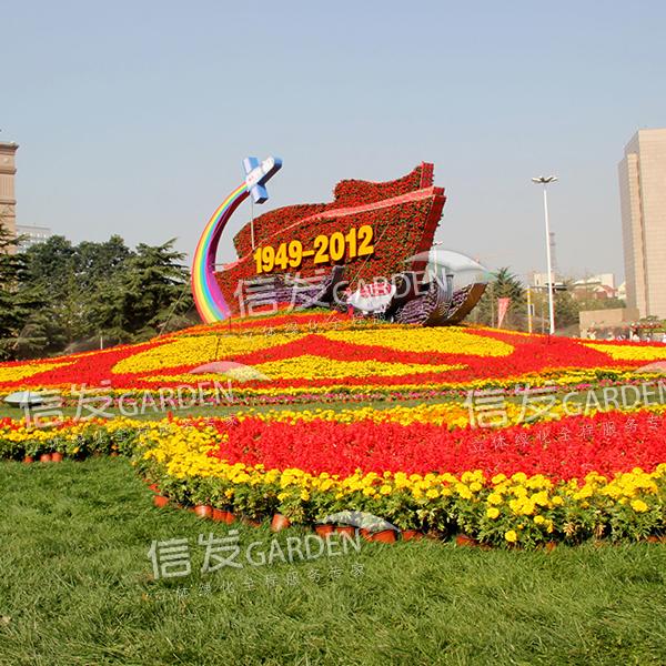 厂家直销街道广场 景观小品 绿雕造型花盆卡盆花球花柱立体绿化