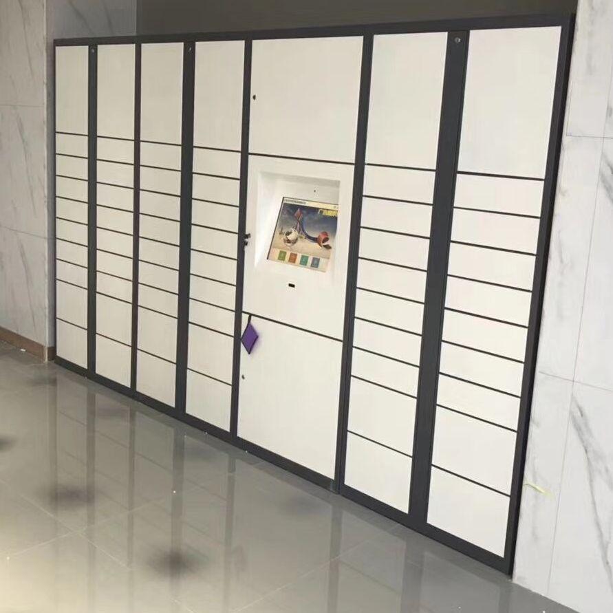 商场超市存包柜电子寄存微信24门条码智能储物柜指纹手机存放柜