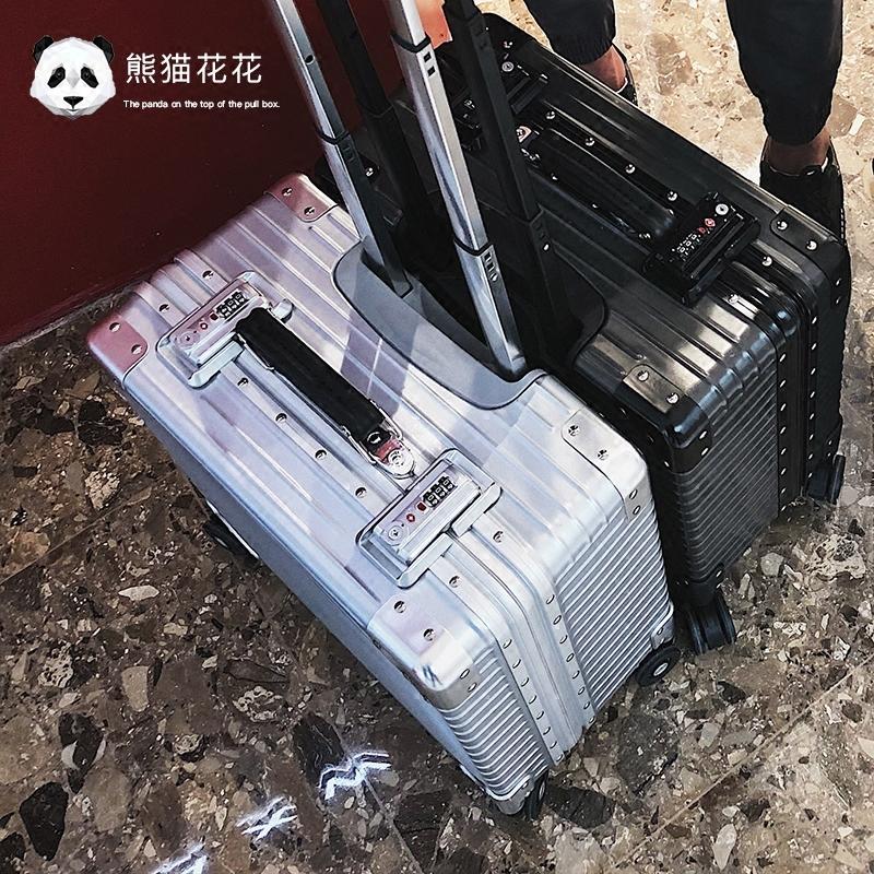 供应 小型行李箱女铝框18寸登机箱旅行箱旅游箱包拉杆箱箱子韩版