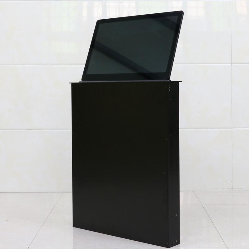 晶固无纸化会议终端 带高清显示屏桌面升降器 15.6-21.5英寸超薄液晶屏升降机