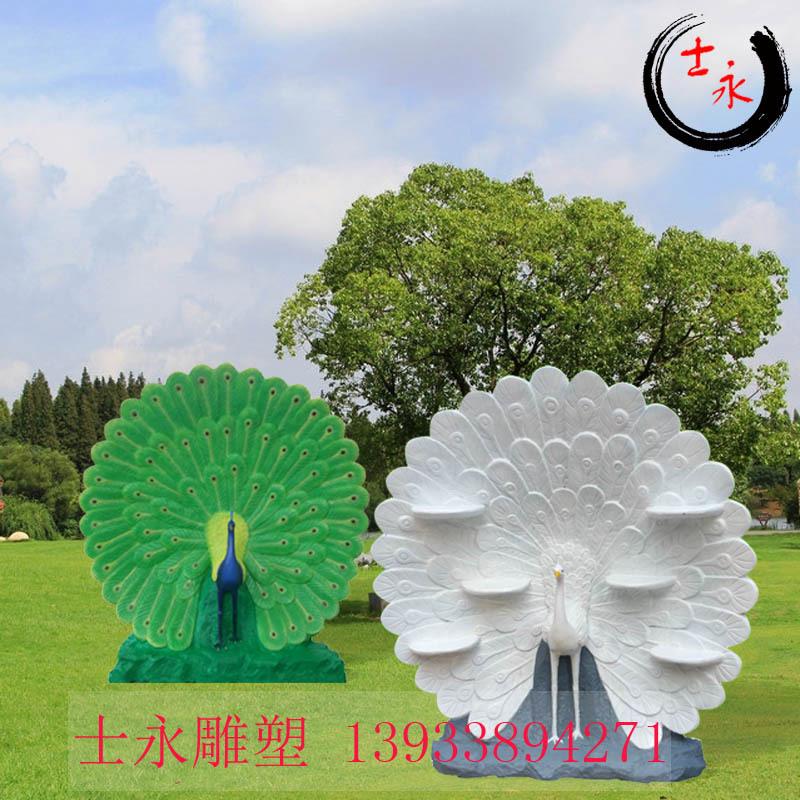 厂家直销玻璃钢雕塑动物雕塑孔雀雕塑大型孔雀雕塑禁锢公园树脂彩绘摆件