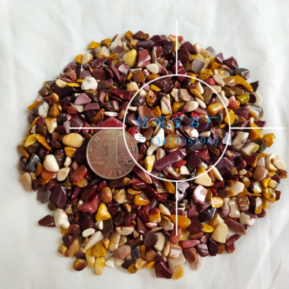 厂家直销 供应天然蛋黄石碎石 蛋黄石宝石不定形 蛋黄石宝石装饰材料