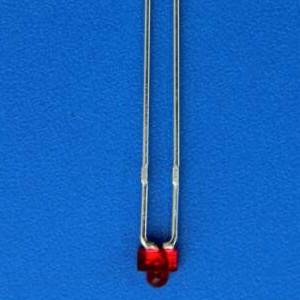 厂家直销高品质发光二极管LED灯珠1.8mm奶嘴红发红雾状