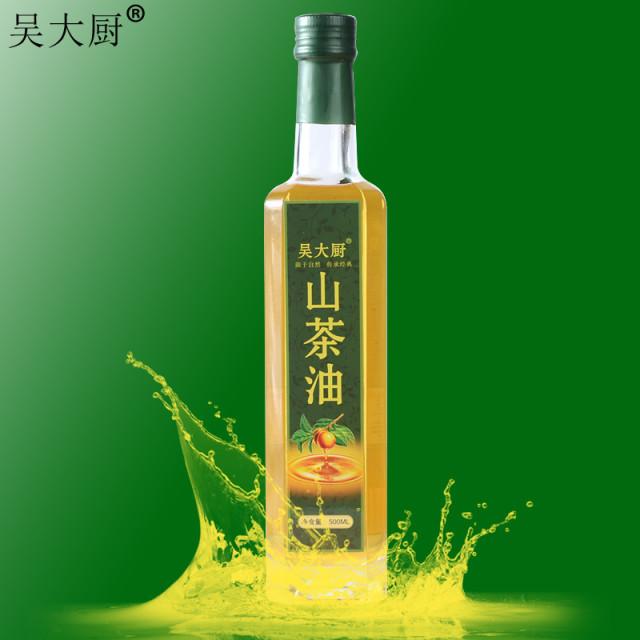 吴大厨山茶油500ml野生茶籽油食用油月子油茶油
