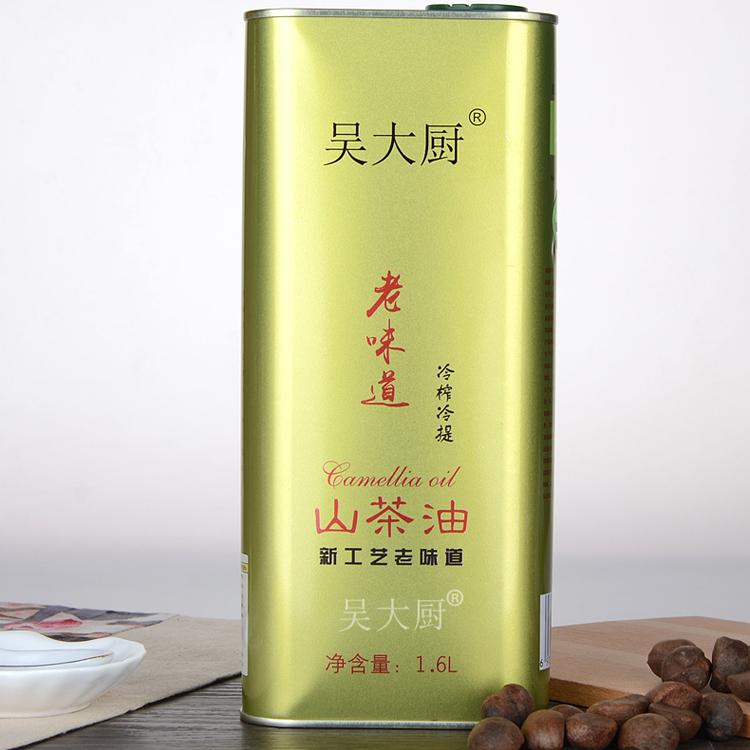 吴大厨山茶油1.6l物理压榨茶籽油食用油月子油茶油