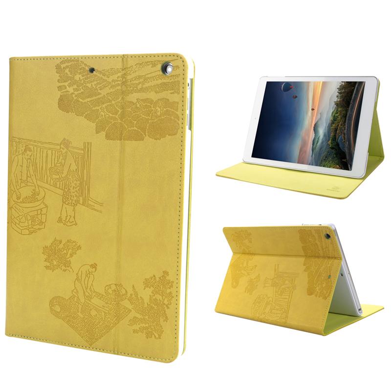 惠州iPad保护套带支架电压工艺9.7寸皮革平板保护壳工厂来图定制