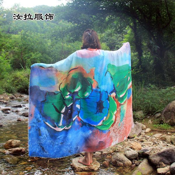 围巾定制, 汝拉服饰定制辣呼款围巾,具有设计能力印花围巾厂