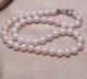 供应 厂家直销淡水正品珍珠项链长款正圆强光可加工定制