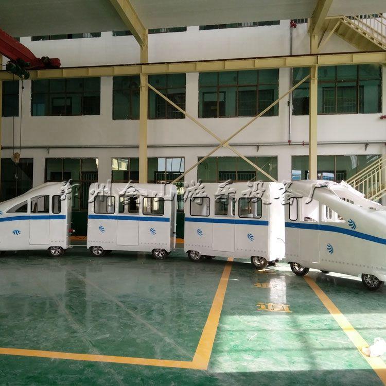 无轨火车和谐号价位  新型无轨电动小火车