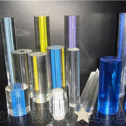 厂家批发气泡亚克力棒材 压克力挤出棒材 塑胶塑料圆棒 水晶棒材 彩色棒 可定做