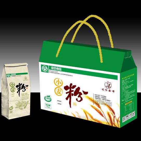 通辽面粉 司令套布农家小麦粉 4kg装 天然 绿色 无污染 天然有硒 一件包邮