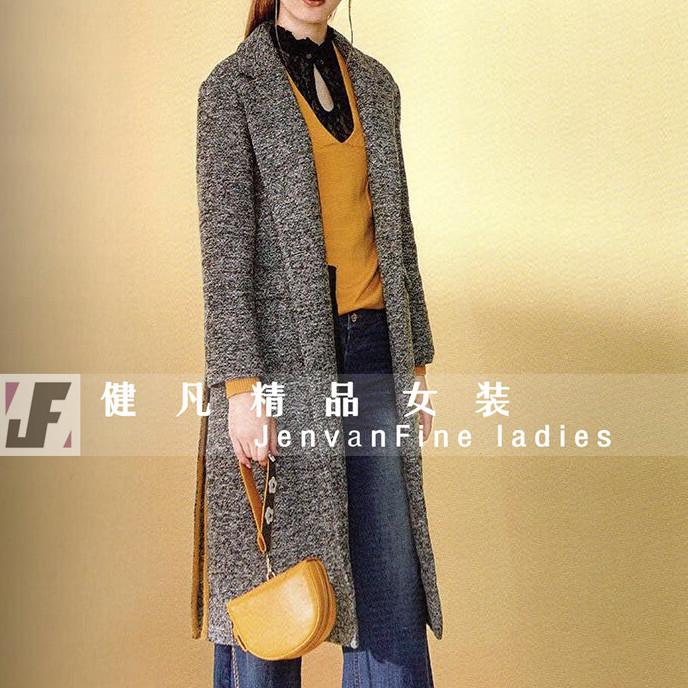 秋冬女式外套绒衫|品牌库存服装|折扣女装尾货批发