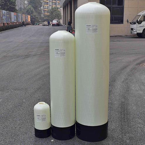 苏州厂家直销直径250玻璃钢树脂罐流量0.2吨上开2.5英寸软水罐
