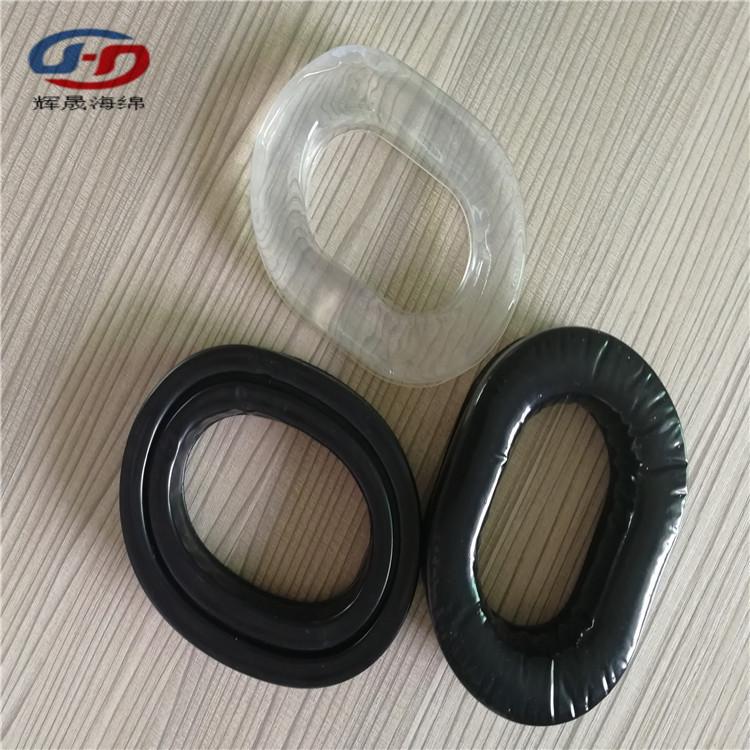 辉晟订做模具加工LOGO成型耳机皮套PVC吸塑海绵耳套