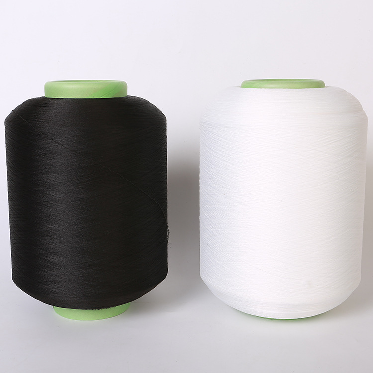 供應 氨綸包覆紗3030滌綸包覆紗黑色30D化纖滌綸包覆紗