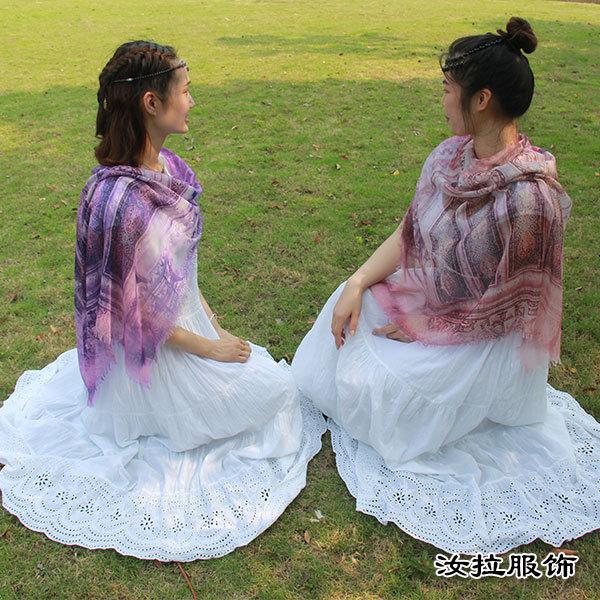 订制围巾,女款围巾定做厂家,订制印花有故事女款围巾-汝拉服饰