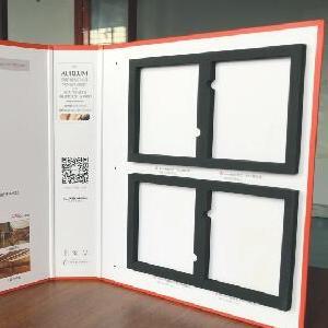 佛山实木门色卡册定做 烤漆门橱柜衣柜板材色卡样板册定制 煌翔包装色卡制作