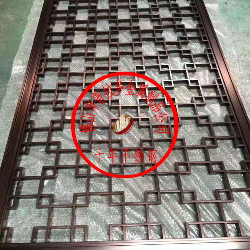 厂家定制生产不锈钢屏风隔断花格