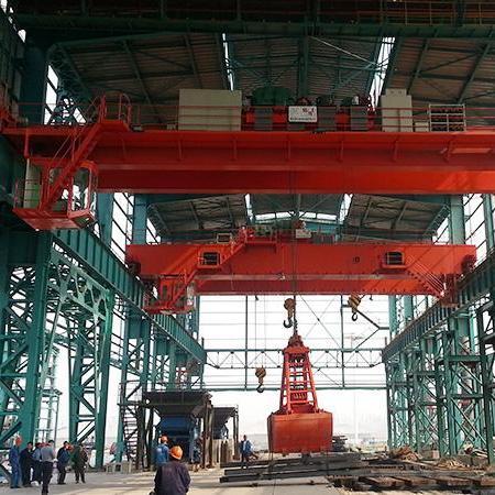 现货出售 25吨偏挂龙门吊 32吨室外双主梁二手桥式起重机 道轨