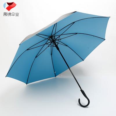 供应 厂家直销创意长柄广告伞 黑胶纯色广告伞遮阳广告伞
