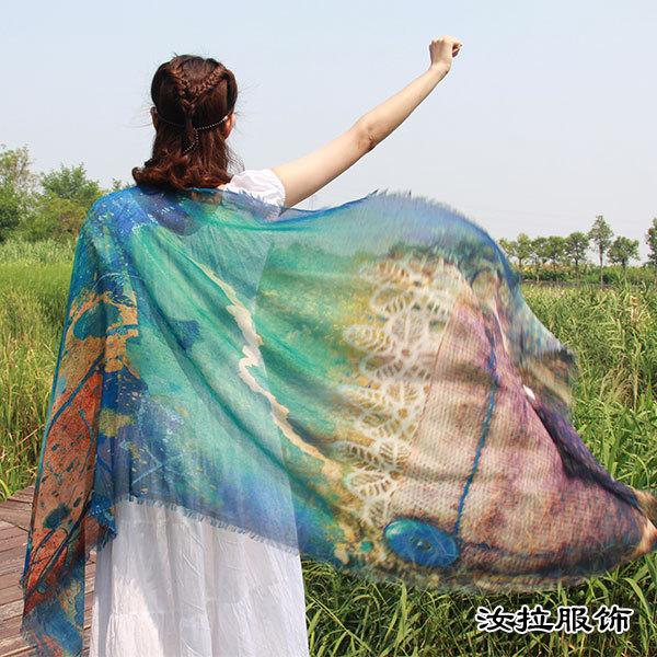 定制围巾到浙江围巾贴牌厂家,汝拉服饰,具有设计能力围巾贴牌厂
